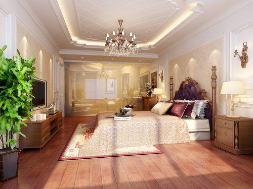 欧式风格三居室卧室装修图片欣赏
