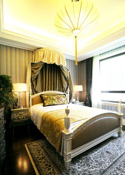 华丽欧式风格别墅卧室装修效果图