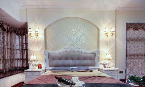 华丽欧式风格卧室背景墙效果图欣赏