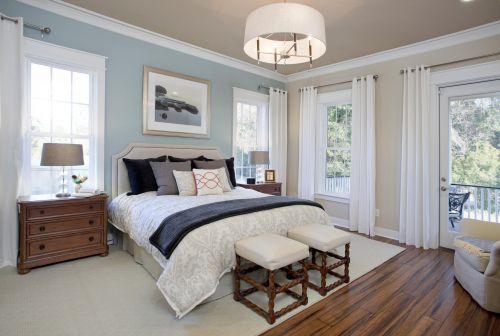 古典欧式风格原木色卧室空间装修实景图