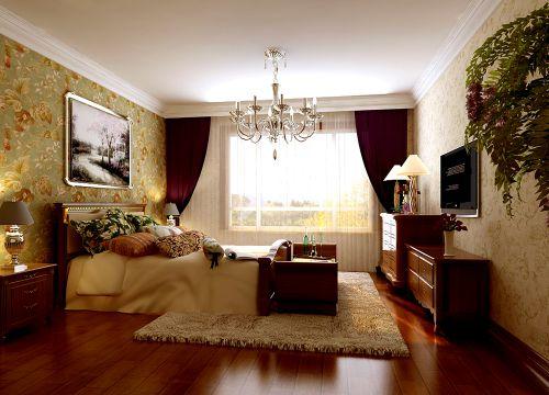 古典欧式风格三居室卧室装修图片欣赏