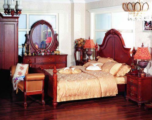 古典欧式卧室化妆台效果图