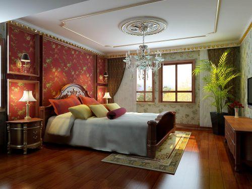 欧式古典四居室卧室隔断装修效果图大全