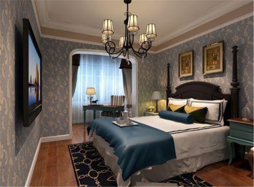 欧式经典六居室以上卧室背景墙装修效果图