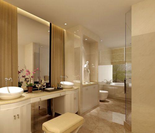 欧式风格米色卧室梳妆台装修效果图