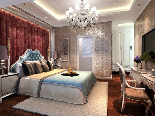 现代欧式风格三居室卧室梳妆台灯具装修效果图大全
