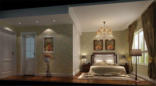 简约欧式三居室卧室装修效果图