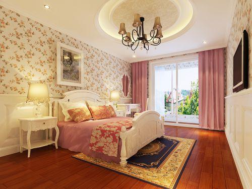欧式经典四居室卧室隔断装修效果图欣赏