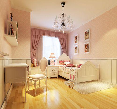 欧式田园风格三居室卧室吊顶装修效果图欣赏