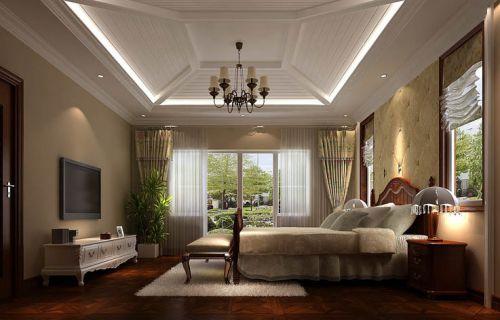 欧式风格五居室卧室吊顶装修效果图
