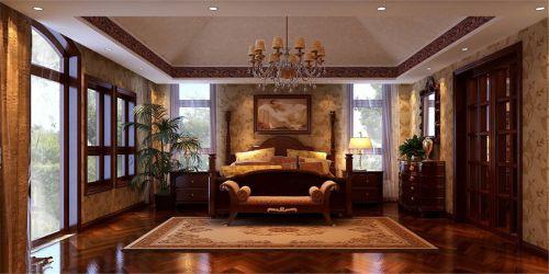 欧式古典别墅卧室吊顶装修效果图