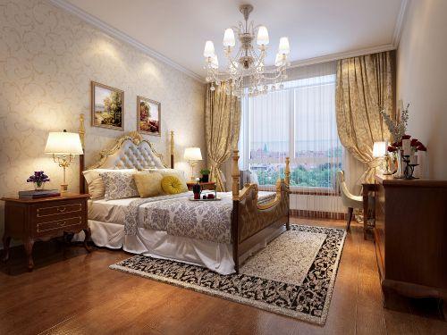 欧式风格四居室卧室床头柜装修效果图欣赏