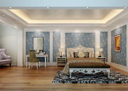 简约欧式 日式风格四居室卧室床头柜装修效果图大全