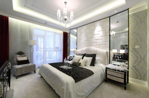 欧式新古典风格二居室卧室吊顶装修效果图欣赏