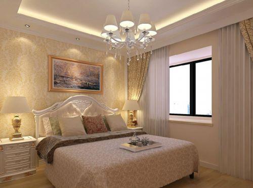 实用简约欧式风小户型卧室大床设计效果图