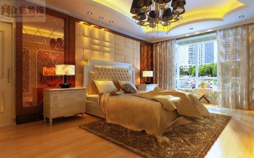 欧式三居室卧室飘窗装修图片