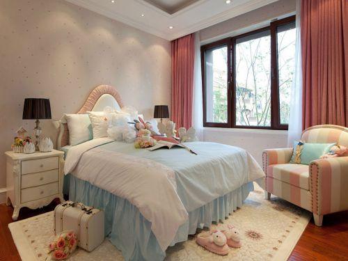 欧式风格三居室卧室吊顶装修效果图欣赏