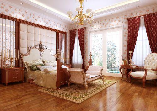 欧式三居室卧室装修效果图