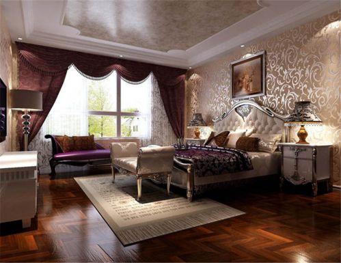 欧式风格四居室卧室床装修效果图大全