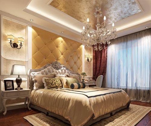 欧式风格温馨暖色调时尚卧室装修效果图