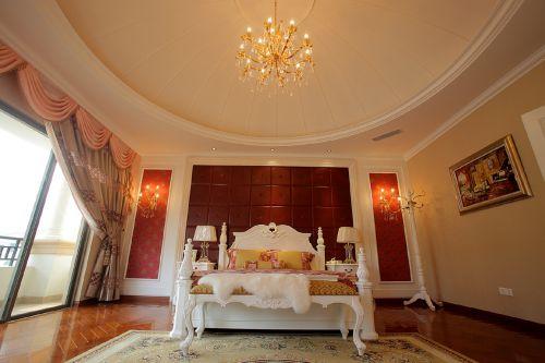 四居室欧式风格橙色暖意卧室装修效果图