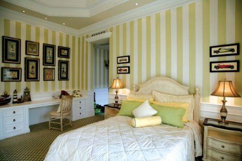 简约欧式风格六居室卧室背景墙装修效果图欣赏