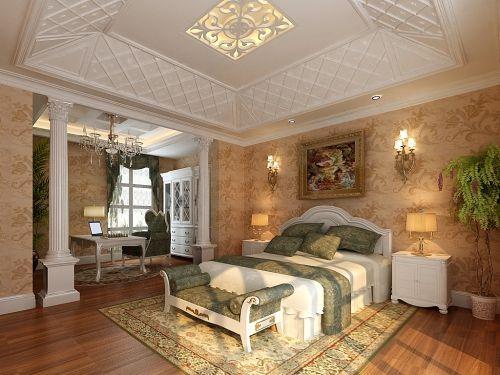 欧式二居室卧室床装修图片