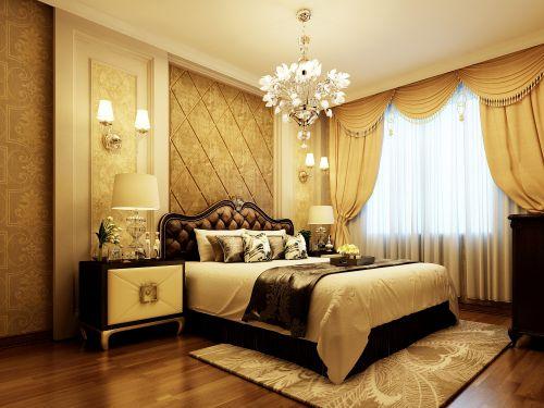 现代欧式二居室卧室吊顶装修效果图欣赏