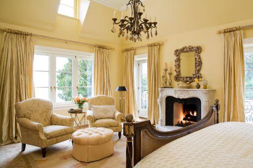 大气黄色欧式风格大卧室休闲沙发效果图