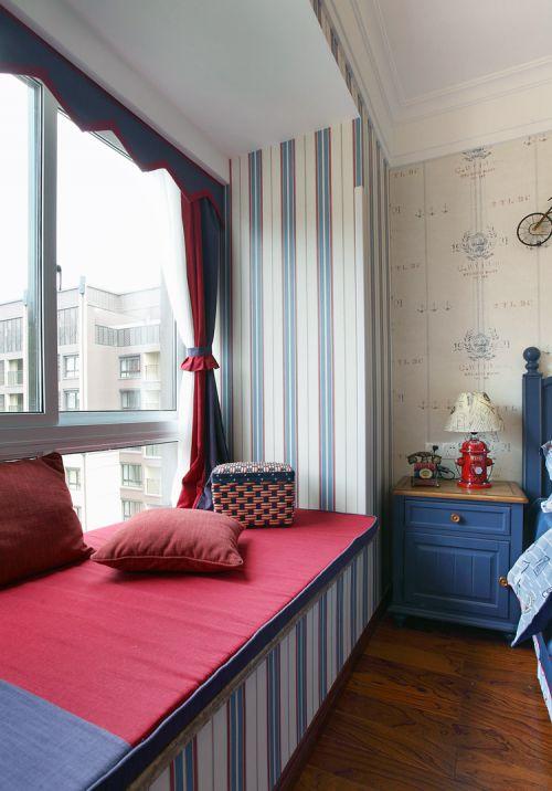 高雅迷人欧式风格卧室飘窗实景效果图