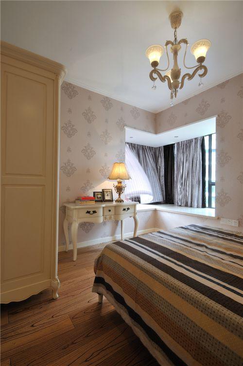典雅柔美欧式风格卧室飘窗实景效果图