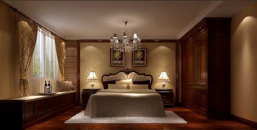 古典欧式三居室卧室装修图片