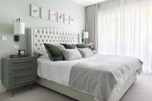 白色卧室两室一厅欧式装修效果图大全