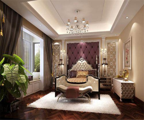 欧式风格四居室卧室装修图片