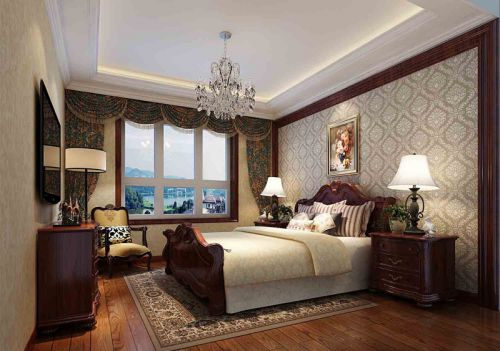 欧式风格四居室卧室装修效果图