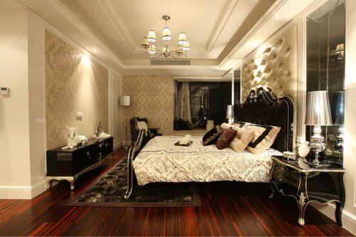 欧式古典三居室卧室背景墙装修效果图