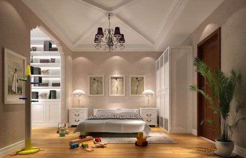欧式托斯卡纳别墅卧室吊顶装修图片