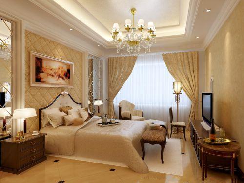 现代欧式风格四居室卧室装修图片