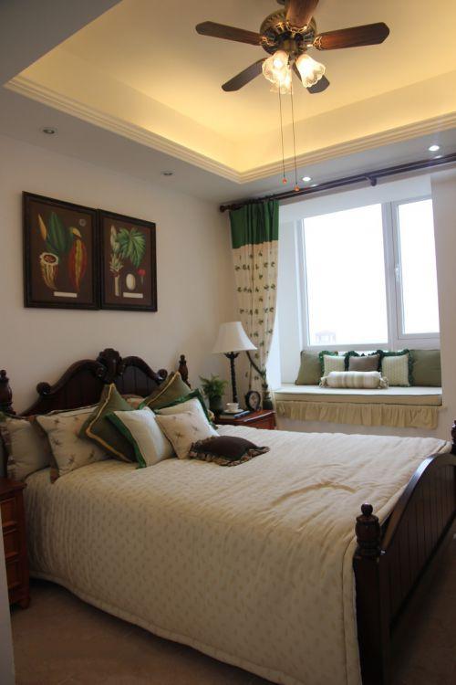 清新欧式风格卧室飘窗效果图大全