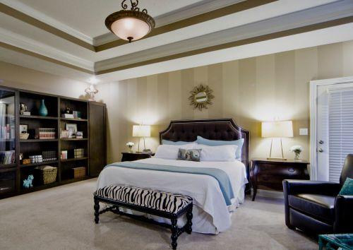 欧式经典系列卧室床头柜装修实景图