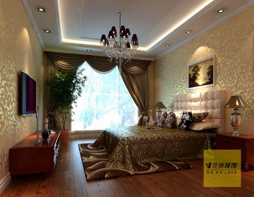 时尚欧式三居室卧室装修图片