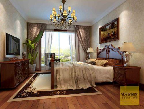 简约欧式三居室卧室装修效果图大全