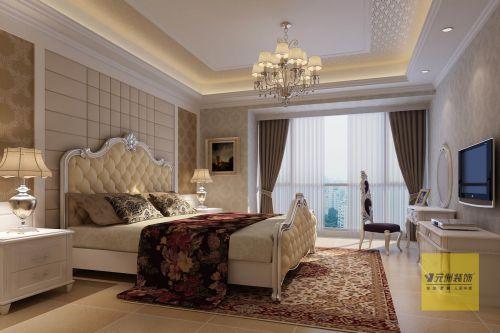 简约欧式三居室卧室装修图片