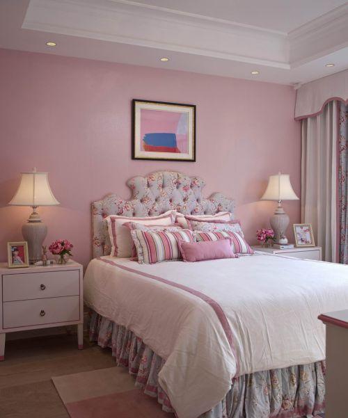 清新欧式风格三居室卧室效果图欣赏