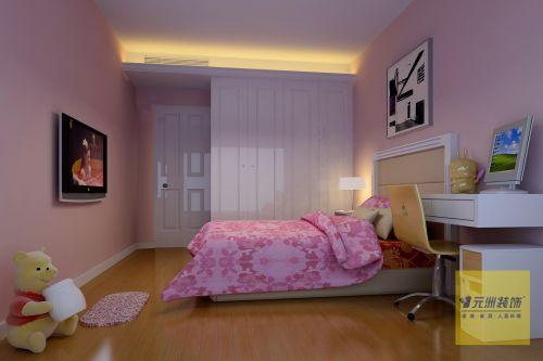 简约欧式风格三居室卧室装修效果图欣赏