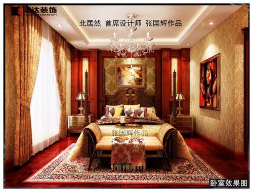 欧式古典复式卧室装修图片