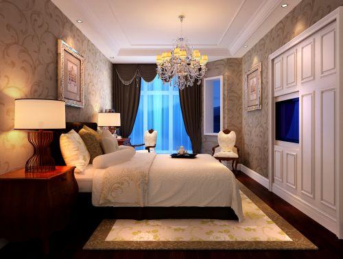 现代欧式三居室卧室装修效果图