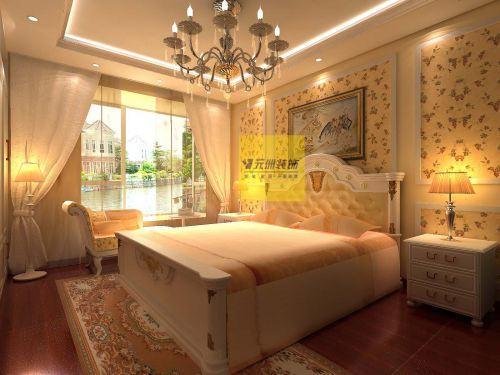 欧式田园三居室卧室装修效果图欣赏