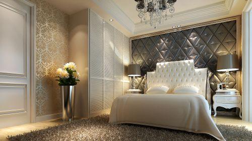 欧式时尚三居室卧室装修效果图大全