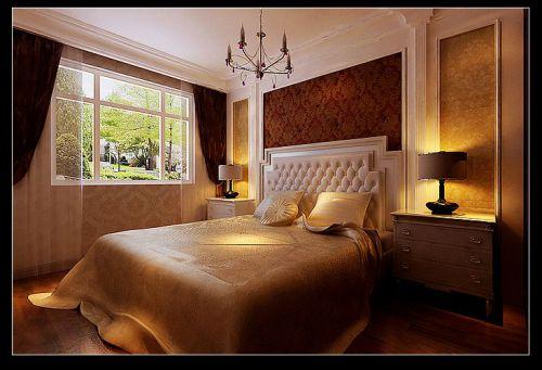 欧式风格别墅卧室装修图片